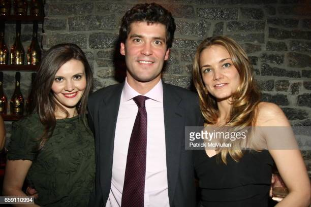 Alina Suprunova Alejandro Santo Domingo and Katarina Harf attend Katarina Harf and DKMS Host Cocktail Reception in Anticipation of DKMS Gala at The...