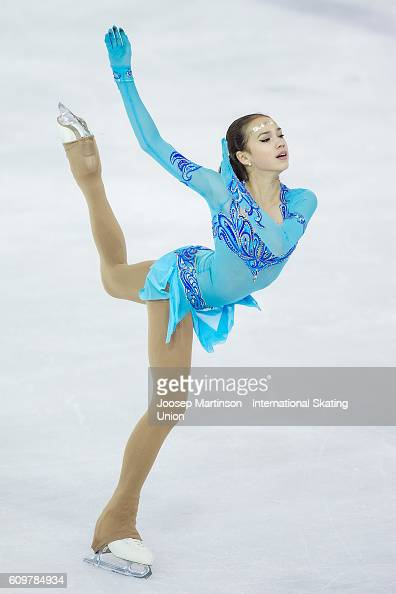 Alina Zagitova of Russia competes during the Junior Ladies Short Program on day one of the ISU Junior Grand Prix of Figure Skating on September 22...