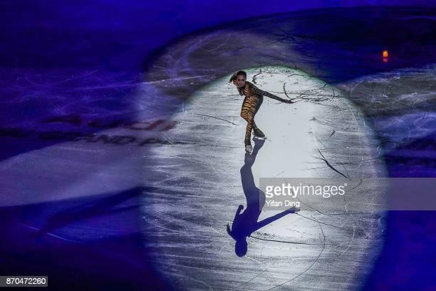 Alina Zagitova of Russia performs during exhibition program of Audi Cup of China ISU Grand Prix of Figure Skating 2017 at Beijing Capital Gymnasium...