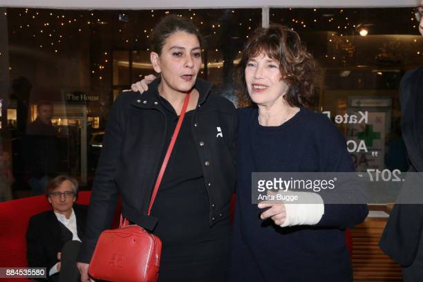 Aline Arlettaz and Jane Birkin attend the 'Actrices' exhibition opening at the Institut Francais on December 2 2017 in Berlin Germany