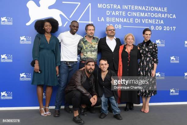 Aline Belibi Narcisse Mame Marco D'Amore Claudio Santamaria Simoncino Cosimo Gomez guest and Sara Serraiocco attend the 'Brutti E Cattivi' photocall...