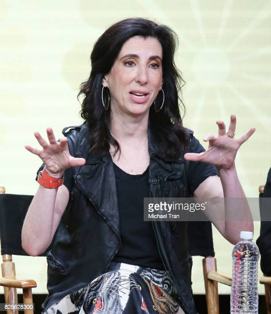 Aline Brosh McKenna of 'Crazy ExGirlfriend' speaks onstage during the 2017 Summer TCA Tour CW Panels held at The Beverly Hilton Hotel on August 2...