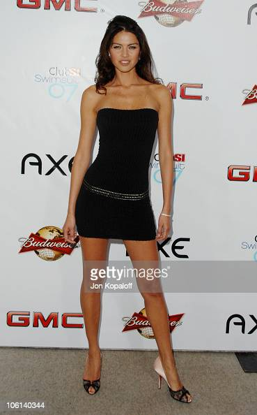 Aline Nakashima during 2007 Sports Illustrated Swimsuit Issue Party at Pacific Design Center in Los Angeles California United States