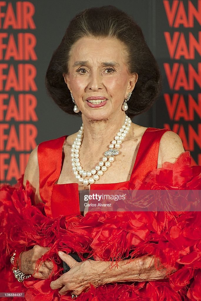 Aline Romanones attends 'Man of the Year 2011' Vanity Fair Award at 'Museo de America' on October 6 2011 in Madrid Spain
