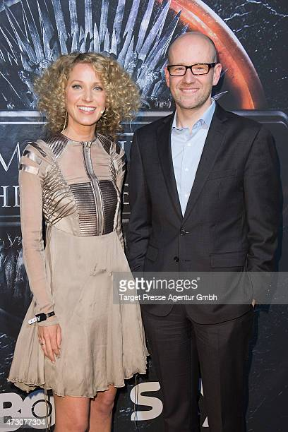 Aline von Drateln and Peter Tauber attend the pre opening party of the exhibition 'Game of Thrones Die Ausstellung' on May 12 2015 in Berlin Germany