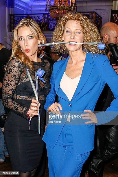Aline von Drateln and Sarah Valentina Winkhaus attend the Blaue Blume Awards 2016 on February 10 2016 in Berlin Germany