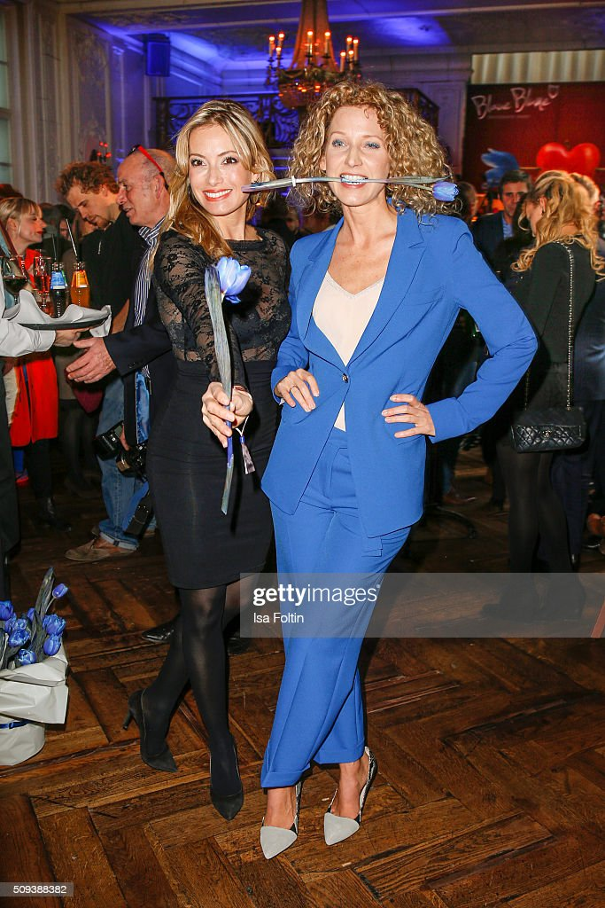 Aline von Drateln and Sarah Valentina Winkhaus attend the Blaue Blume Awards 2016 on February 10, 2016 in Berlin, Germany.