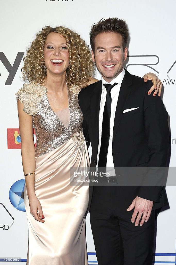 Aline von Drateln and Sebastian Hoeffner attend the Mira Award 2014 on January 23 2014 in Berlin Germany
