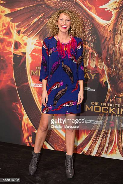 Aline von Drateln attends the 'The Hunger Games Mockingjay Part 1' preview event at Kraftwerk Mitte on November 11 2014 in Berlin Germany