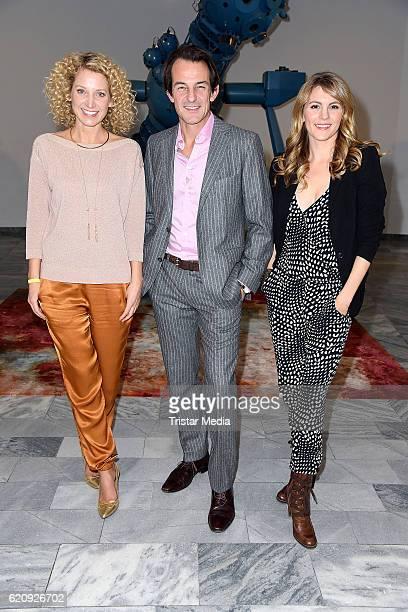 Aline von Drateln Hans Werner Meyer and Luise Baehr attend the NatGeo Series 'Mars' Premiere on November 3 2016 in Berlin Germany