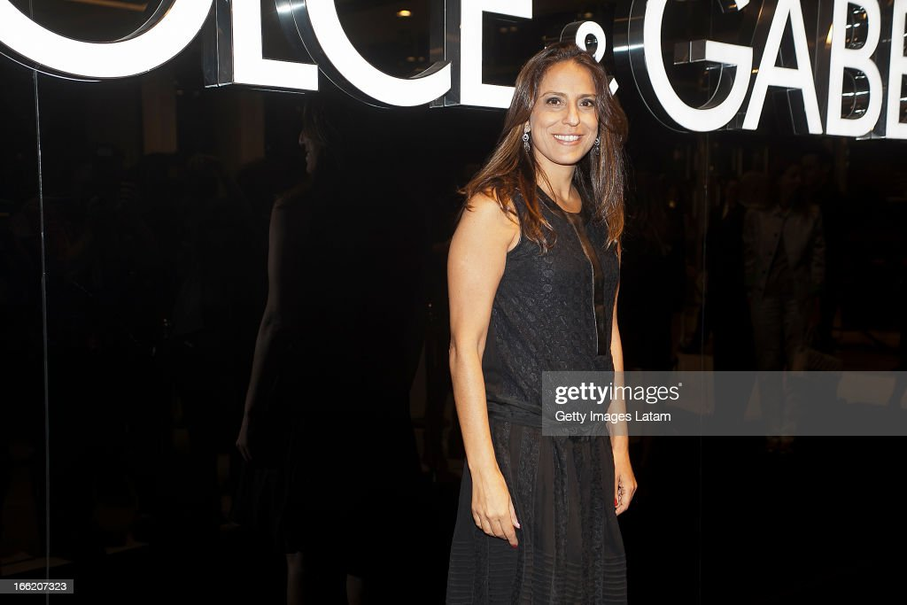 Aline Zarouk attends the Dolce&Gabbana cocktail party on April 9, 2013 in Sao Paulo, Brazil.
