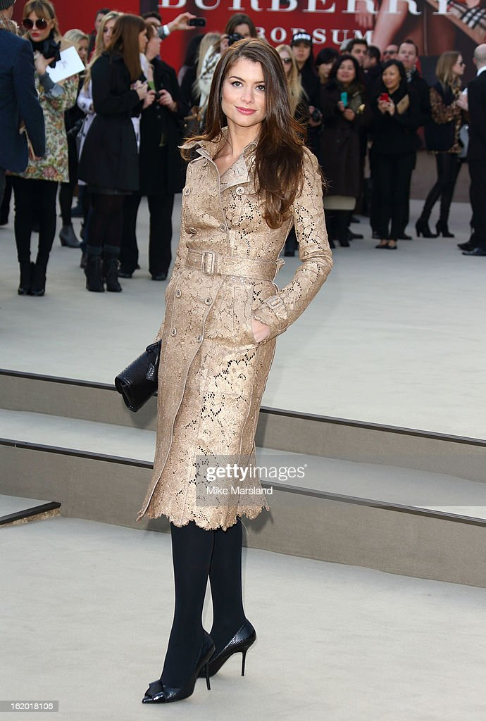 Alinne Moraes attends the Burberry Prorsum show during London Fashion Week Fall/Winter 2013/14 at on February 18, 2013 in London, England.