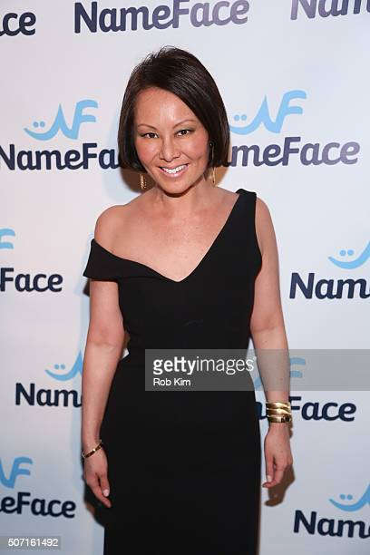 Alino Cho attends the launch party for NameFacecom at No 8 on January 27 2016 in New York City