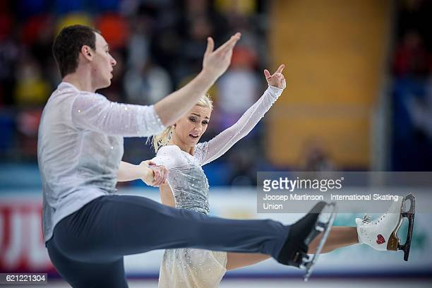 Aliona Savchenko and Bruno Massot of Germany compete during Pairs Free Skating on day two of the Rostelecom Cup ISU Grand Prix of Figure Skating at...