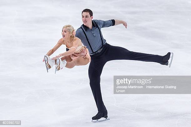Aliona Savchenko and Bruno Massot of Germany compete during Pairs Short Program on day one of the Trophee de France ISU Grand Prix of Figure Skating...