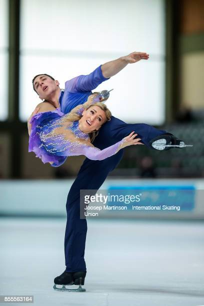 Aliona Savchenko and Bruno Massot of Germany compete in the Pairs Free Skating during the Nebelhorn Trophy 2017 at Eissportzentrum on September 29...