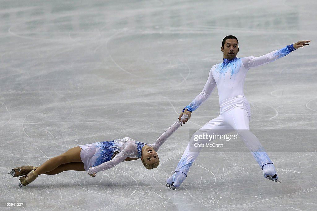 <a gi-track='captionPersonalityLinkClicked' href=/galleries/search?phrase=Aliona+Savchenko&family=editorial&specificpeople=247200 ng-click='$event.stopPropagation()'>Aliona Savchenko</a> and <a gi-track='captionPersonalityLinkClicked' href=/galleries/search?phrase=Robin+Szolkowy&family=editorial&specificpeople=247243 ng-click='$event.stopPropagation()'>Robin Szolkowy</a> of Germany compete in the Pairs Short Program during day two of the ISU Grand Prix of Figure Skating Final 2013/2014 at Marine Messe Fukuoka on December 6, 2013 in Fukuoka, Japan.