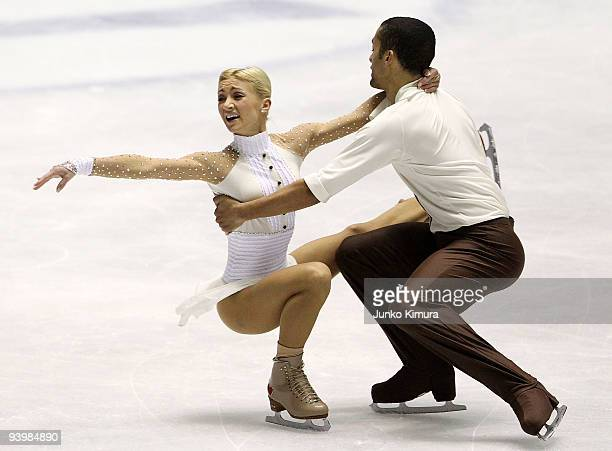 Aliona Savchenko and Robin Szolkowy of Germany compete in the Pairs Free Skating on the day three of ISU Grand Prix of Figure Skating Final at Yoyogi...