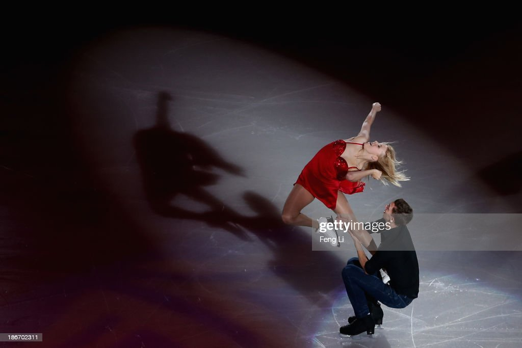Aliona Savchenko and Robin Szolkowy of Germany perform during Lexus Cup of China ISU Grand Prix of Figure Skating 2013 at Beijing Capital Gymnasium on November 3, 2013 in Beijing, China.
