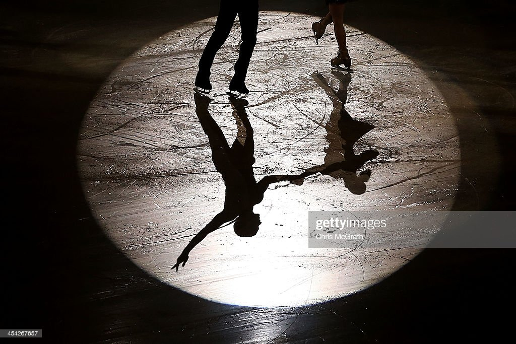 Aliona Savchenko and Robin Szolkowy of Germany perform their routine in the ISU Gala during day four of the ISU Grand Prix of Figure Skating Final 2013/2014 at Marine Messe Fukuoka on December 8, 2013 in Fukuoka, Japan.