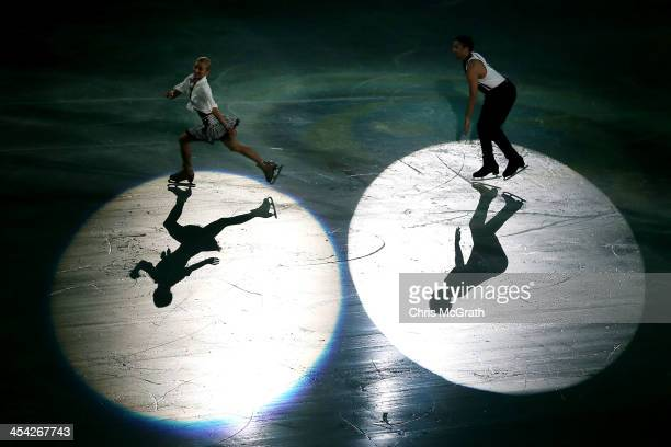 Aliona Savchenko and Robin Szolkowy of Germany perform their routine in the ISU Gala during day four of the ISU Grand Prix of Figure Skating Final...