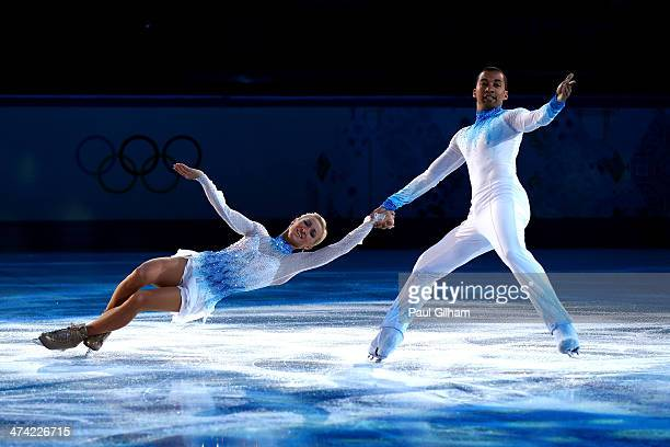 Aliona Savchenko and Robin Szolkowy of Germany performs during the Figure Skating Exhibition Gala at Iceberg Skating Palace on February 22 2014 in...
