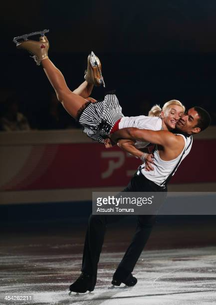 Aliona Savchenko and Robin Szolkowy of Germany performs their routine in the Gala during day four of the ISU Grand Prix of Figure Skating Final...
