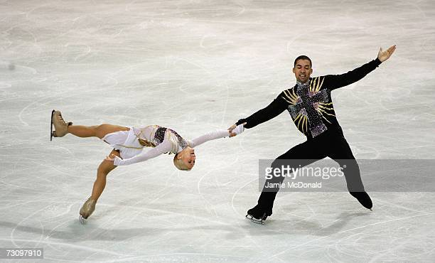 Aliona Savchenko and Robin Szolkowy of Germany skate to win Gold during the Pairs Free Skate during the ISU European Figure Skating Championships...