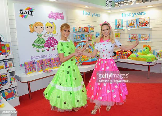 Aliona Vilani and Kristina Rihanoff Launch Galt Toy's Dazzling Dancers Sensational Sequins craft kit at Toy Fair Kensington Olympia on January 20...