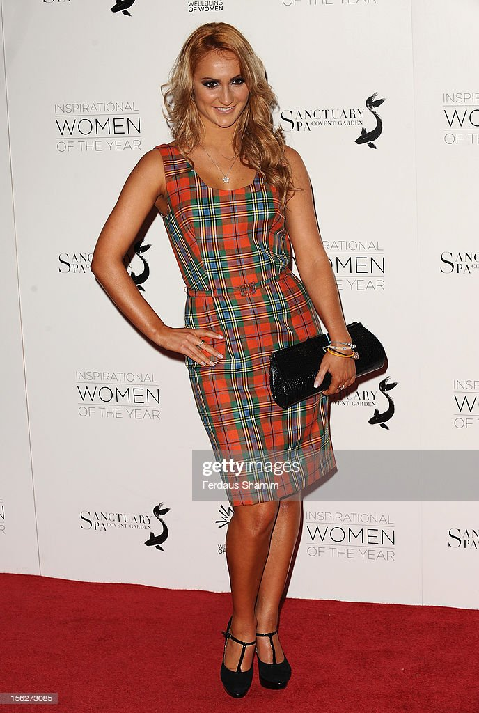 Aliona Vilani attends The Daily Mail Inspirational Women of the Year Awards, sponsored by Sanctuary Spa and in aid of Wellbeing of Women, at Marriott Hotel Grosvenor Square on November 12, 2012 in London, England.