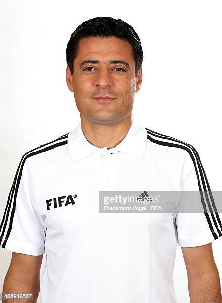 Alireza Faghani poses during the Workshop for Prospective Referees for the 2014 FIFA World Cup at the Windsor Barra Hotel on May 27 2013 in Rio de...