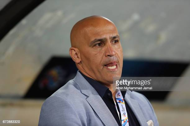 Alireza Mansourian head coach of Esteghlal looks on during AFC Champions League match between Esteghlal vs Al Ahli FC at Azadi Stadium on April 25...
