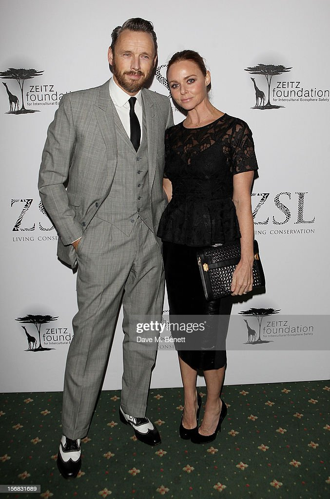 Alisdhair Willis (L) and Stella McCartney arrive at the Zeitz Foundation and ZSL Gala at London Zoo on November 22, 2012 in London, England.