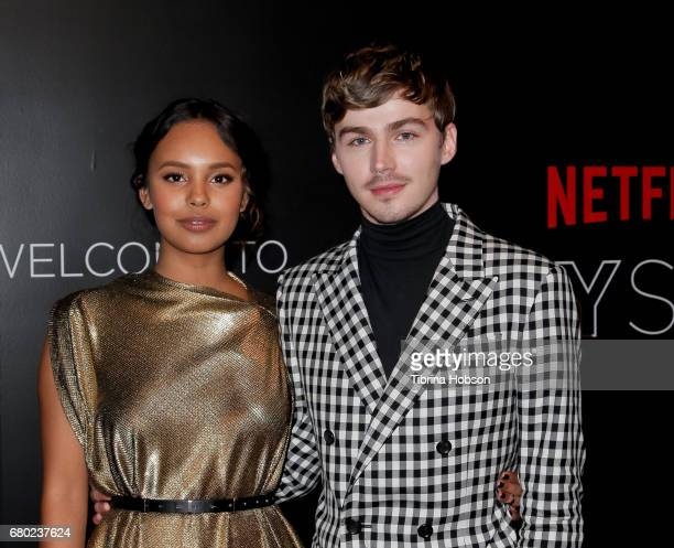 Alisha Boe and Miles Heizer attend the Netflix FYSEE KickOff event at Netflix FYSee Space on May 7 2017 in Beverly Hills California