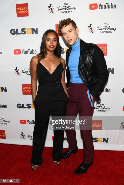 Alisha Boe and Tommy Dorfman at the 2017 GLSEN Respect Awards at the Beverly Wilshire Four Seasons Hotel on October 20 2017 in Beverly Hills...