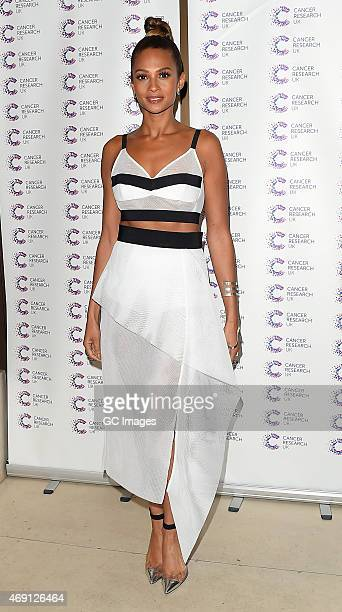 Alisha Dixon attends James Ingham's Jog on to Cancer Research UK event at Kensington Roof Gardens on April 9 2015 in London England