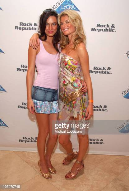 Alisha Hall and Marisa Miller during Sunglass Hut Swim Shows Miami Presented by LYCRA VIP Lounge Day 3 at Raleigh Hotel in Miami Beach Florida United...