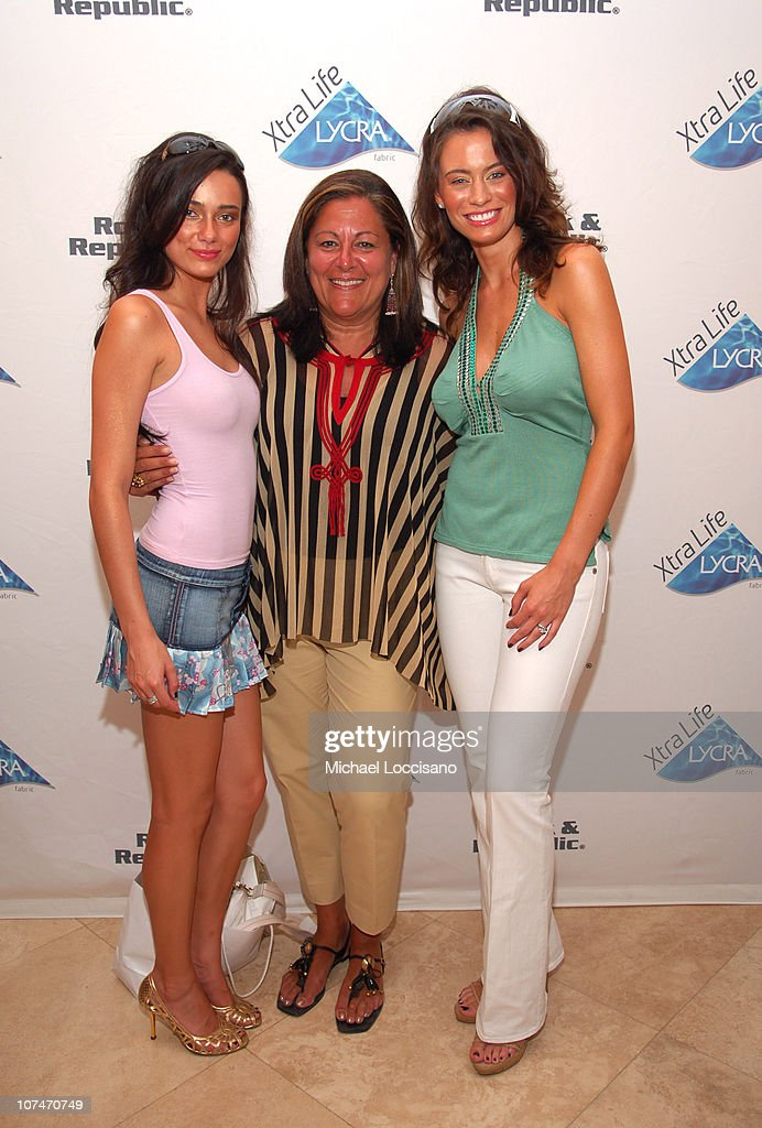 Alisha Hall, Fern Mallis and Shannon Hughes during Sunglass Hut Swim Shows Miami Presented by LYCRA - VIP Lounge - Day 3 at Raleigh Hotel in Miami Beach, Florida, United States.