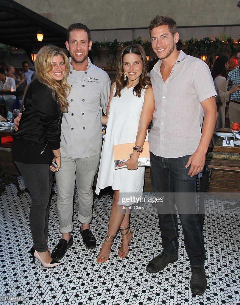 Alisha Levine, Executive Chef Seth Levine, Sophia Bush and Dan Fredinburg attend Sophia Bush's Birthday Party at Hotel Chantelle on July 8, 2013 in New York City.