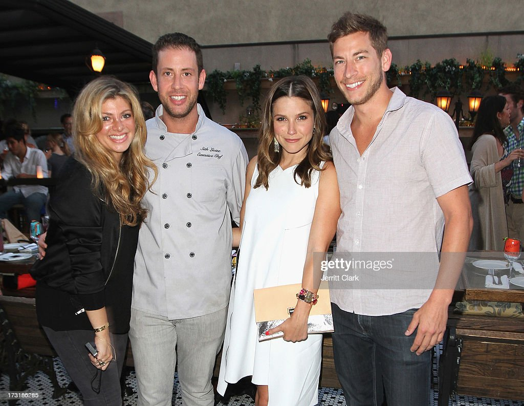 Alisha Levine, Executive Chef Seth Levine, <a gi-track='captionPersonalityLinkClicked' href=/galleries/search?phrase=Sophia+Bush&family=editorial&specificpeople=203180 ng-click='$event.stopPropagation()'>Sophia Bush</a> and <a gi-track='captionPersonalityLinkClicked' href=/galleries/search?phrase=Dan+Fredinburg&family=editorial&specificpeople=11113783 ng-click='$event.stopPropagation()'>Dan Fredinburg</a> attend <a gi-track='captionPersonalityLinkClicked' href=/galleries/search?phrase=Sophia+Bush&family=editorial&specificpeople=203180 ng-click='$event.stopPropagation()'>Sophia Bush</a>'s Birthday Party at Hotel Chantelle on July 8, 2013 in New York City.