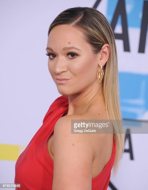 Alisha Marie arrives at the 2017 American Music Awards at Microsoft Theater on November 19 2017 in Los Angeles California