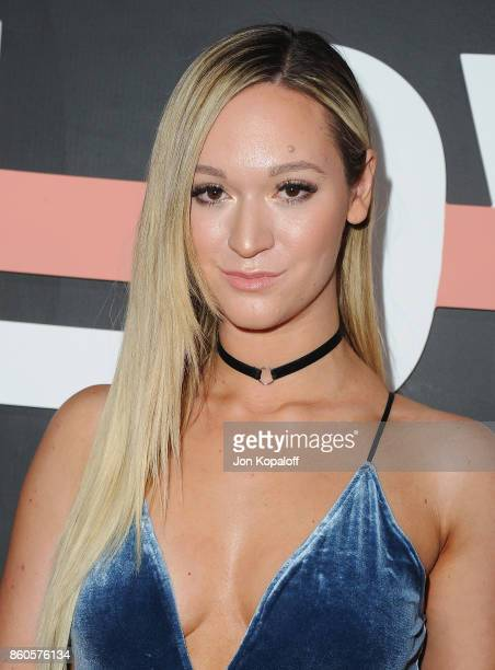Alisha Marie arrives at the premiere of YouTube's 'Demi Lovato Simply Complicated' on October 11 2017 at the Fonda Theatre in Los Angeles California