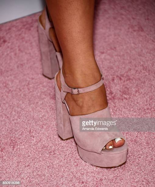 AlishaMarie shoe detail attends the 5th Annual Beautycon Festival Los Angeles at the Los Angeles Convention Center on August 12 2017 in Los Angeles...