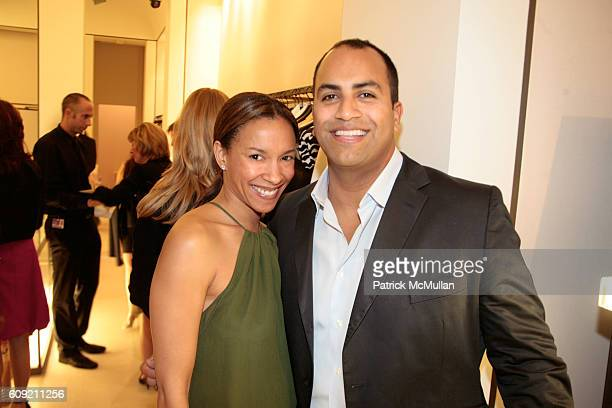 Alison Antrobus and Francisco Rameriez attend Valentino and Holly Robinson Peete Rodney Peete host cocktail shopping event with wives of the NFL...