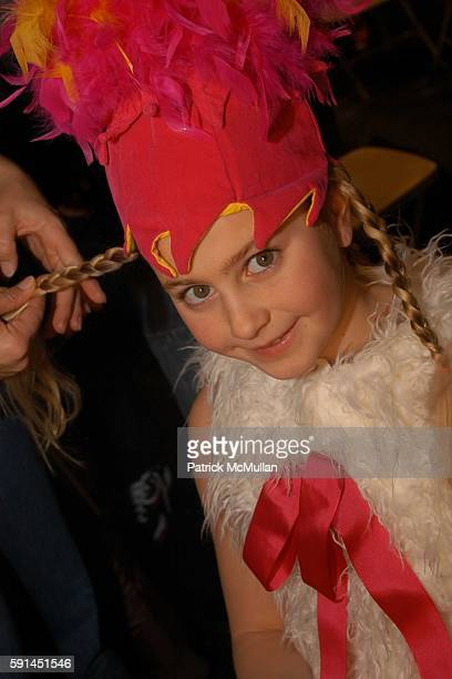 Alison attends Child Magazine Fashion Show at The Atelier Tent at Bryant Park on February 7 2005 in New York City