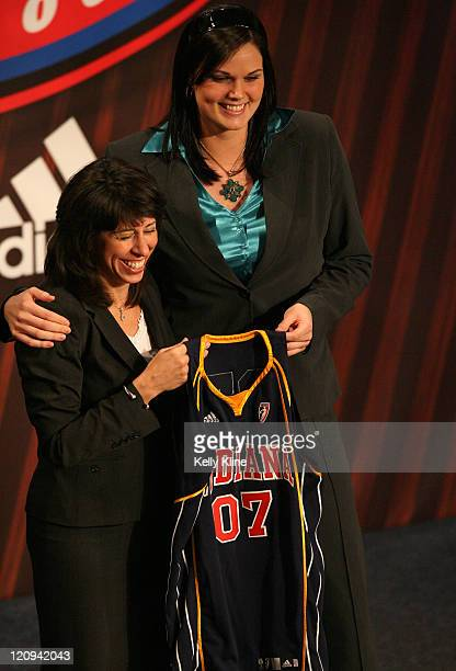 Alison Bales of Duke is selected as the 10th overall draft pick by the Indiana Fever during the 2007 WNBA Draft at the Renissance Hotel Cleveland...
