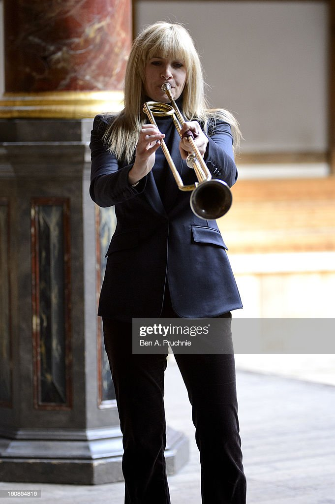 <a gi-track='captionPersonalityLinkClicked' href=/galleries/search?phrase=Alison+Balsom&family=editorial&specificpeople=651462 ng-click='$event.stopPropagation()'>Alison Balsom</a> performs at the press launch of the new season at Shakespeare's Globe on February 7, 2013 in London, England.