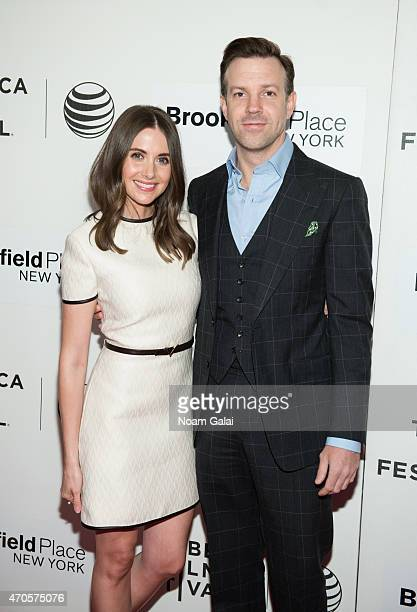 Alison Brie and Jason Sudeikis attend the 'Sleeping With Other People' premiere during the 2015 Tribeca Film Festival at BMCC Tribeca PAC on April 21...