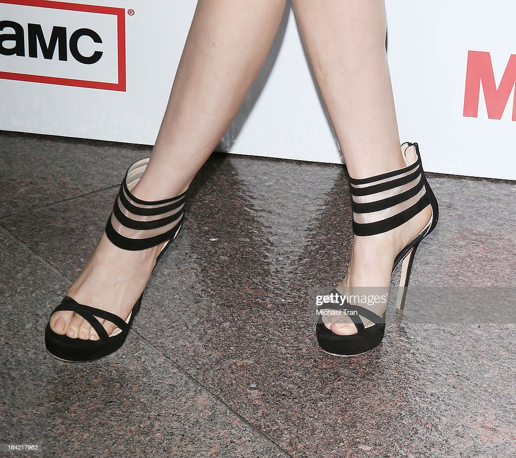 Alison Brie (shoe detail) arrives at AMC's 'Mad Men' season 6 premiere held at DGA Theater on March 20, 2013 in Los Angeles, California.