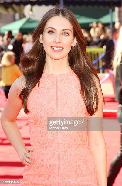 Alison Brie arrives at the Los Angeles premiere of 'The Lego Movie' held at Regency Village Theatre on February 1 2014 in Westwood California